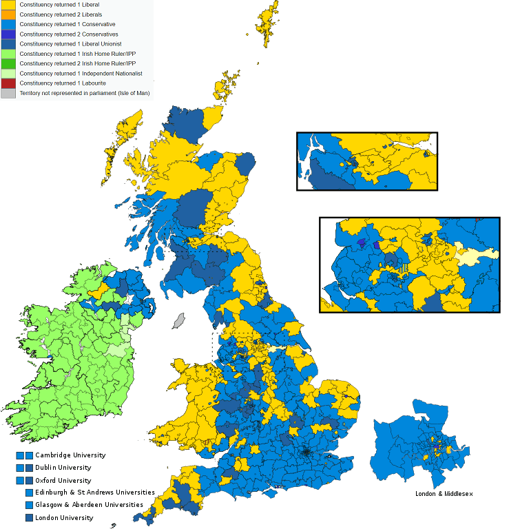 1900 UK Election Map: The One Where Churchill & Labour Win Their First Seats